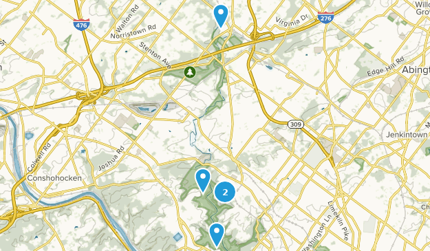 Wissahickon Valley Park Nature Trips Map