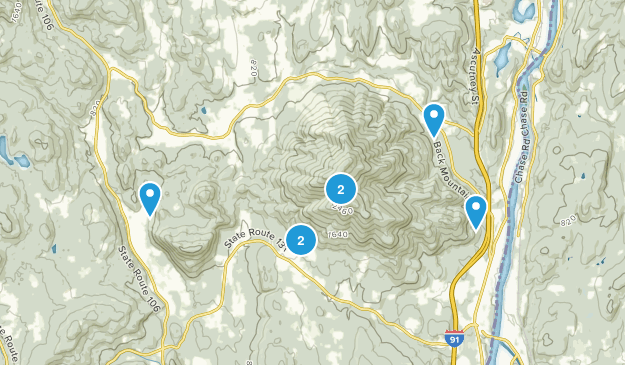 Ascutney State Park Forest Map
