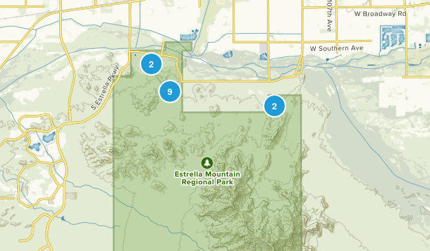Estrella Mountain Regional Park Mountain Biking Map