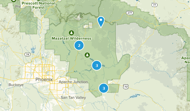 Tonto National Monument Hiking Map