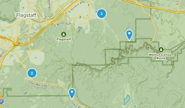 Walnut Canyon National Monument Birding Map