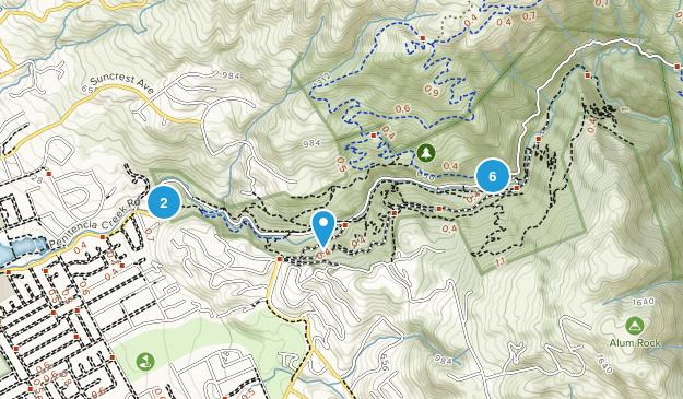 Alum Rock Park Nature Trips Map