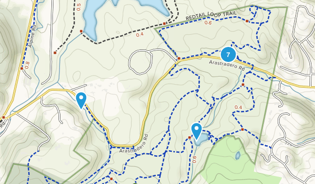 Arastradero Preserve Hiking Map