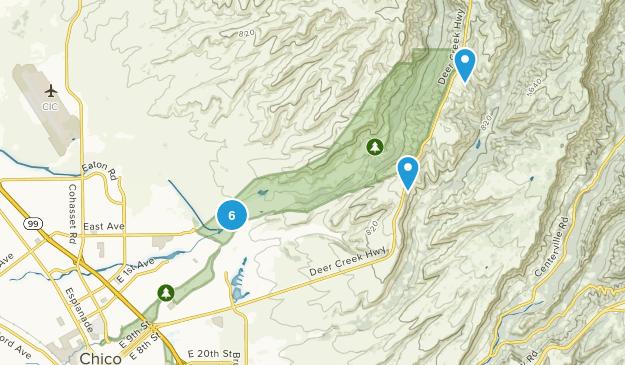 Bidwell Park Mountain Biking Map