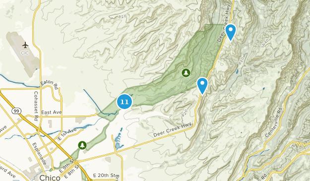 Bidwell Park Nature Trips Map