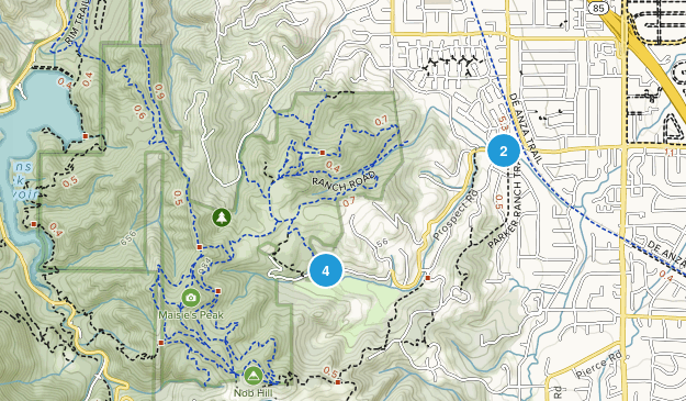 Fremont Older Open Space Preserve Nature Trips Map