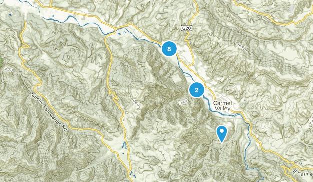Garland Ranch Regional Park Hiking Map