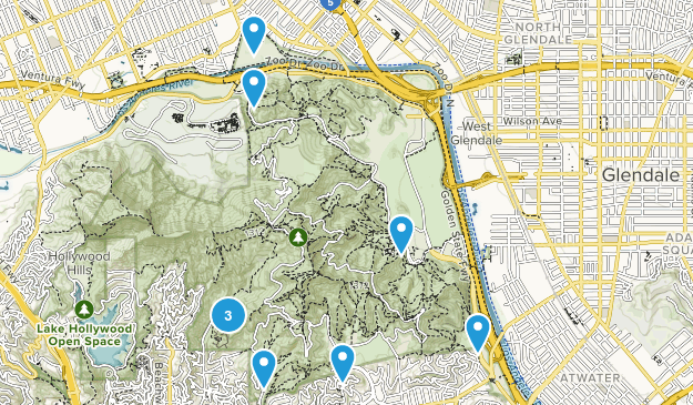 Griffith Park Dog Friendly Map