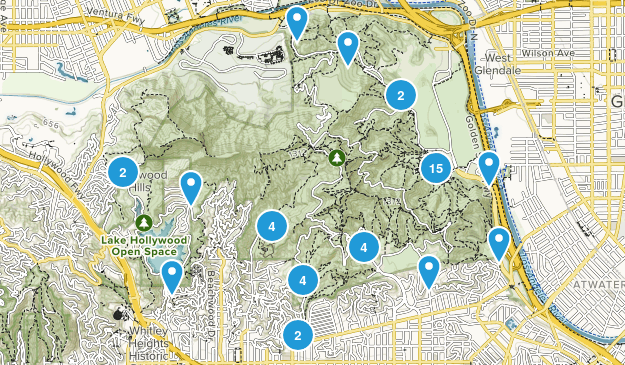 Griffith Park Hiking Map