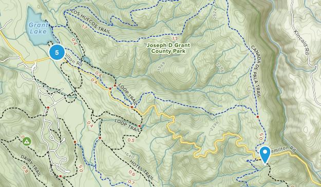 Joseph D Grant County Park Mountain Biking Map