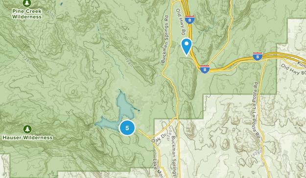 Lake Morena County Park Hiking Map