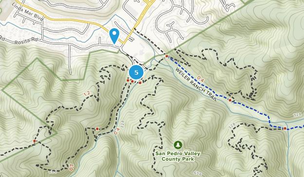 Parc de comté de San Pedro Valley Nature Trips Map