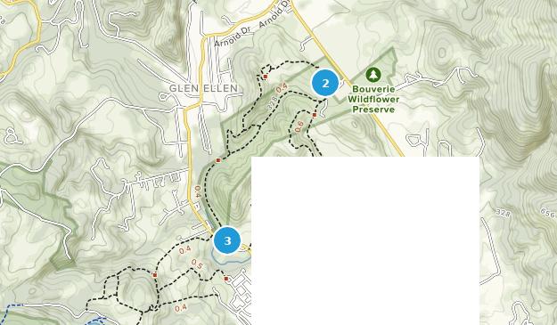 Sonoma Valley Regional Park Hiking Map