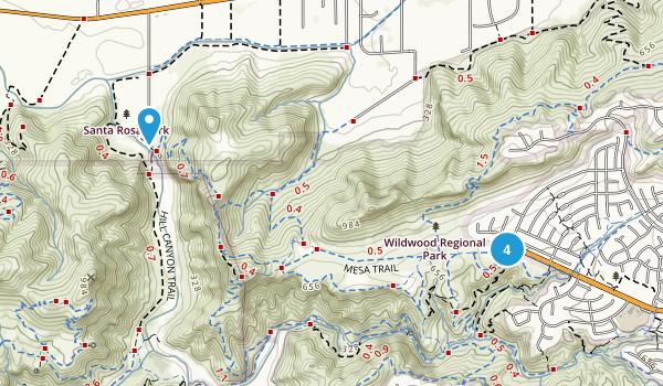 Wildwood Regional Park Mountain Biking Map