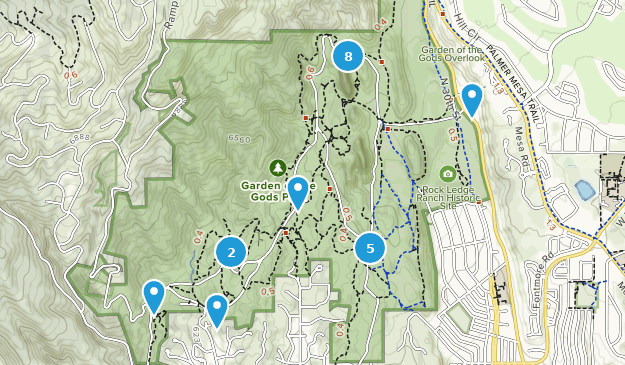 Garden Of The Gods Colorado Map.Best Trail Running Trails In Garden Of The Gods Alltrails