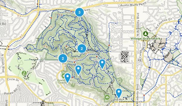 Palmer Park Mountain Biking Map