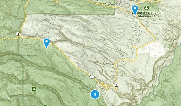 Bandelier National Monument Birding Map