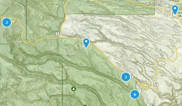 Bandelier National Monument Hiking Map