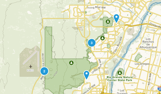 Monument national aux pétroglyphes Hiking Map