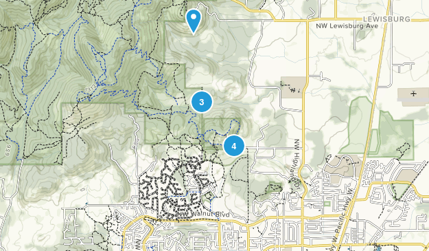 Chip Ross City Park Hiking Map