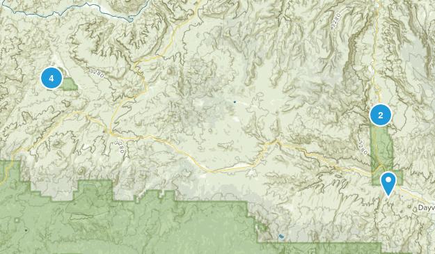 Monument national aux lits de fossiles de John Day Hiking Map