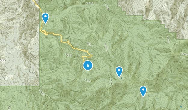 Monument national des grottes de l'Oregon Hiking Map