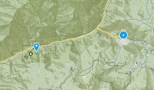 Monument national de la grotte de Timpanogos Hiking Map