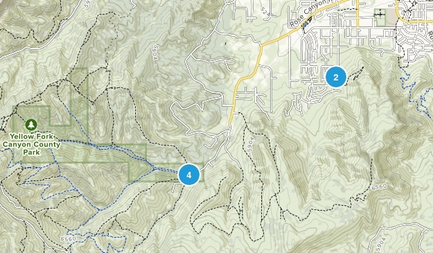 Yellow Fork Canyon County Park Birding Map