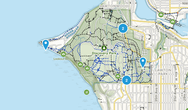 Discovery Park Hiking Map