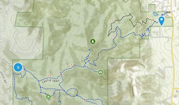 Mount Falcon Park Mountain Biking Map
