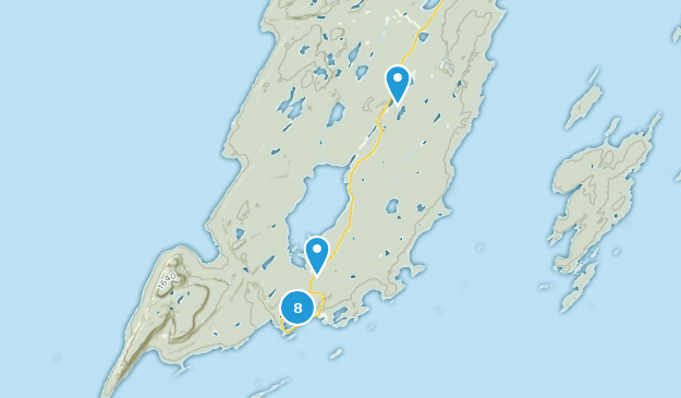 Parc provincial Sleeping Giant Nature Trips Map