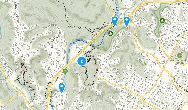 Bull Creek District Park Hiking Map