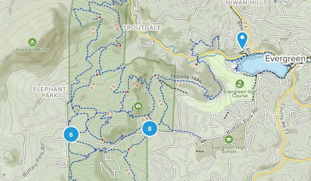 Alderfer / Three Sisters Park Mountain Biking Map