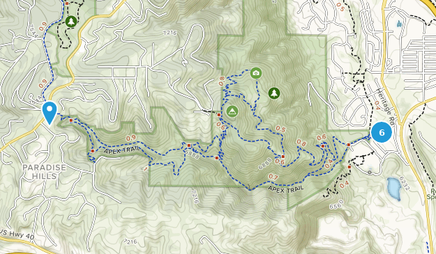 Apex Open Space Park Hiking Map