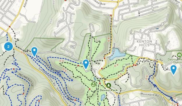 Devou Park Dogs On Leash Map