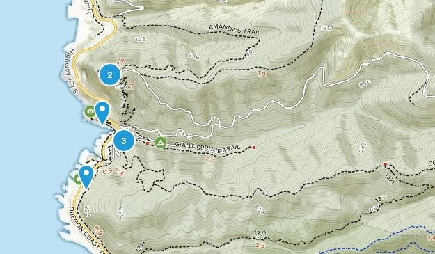 Cape Perpetua Area Hiking Map