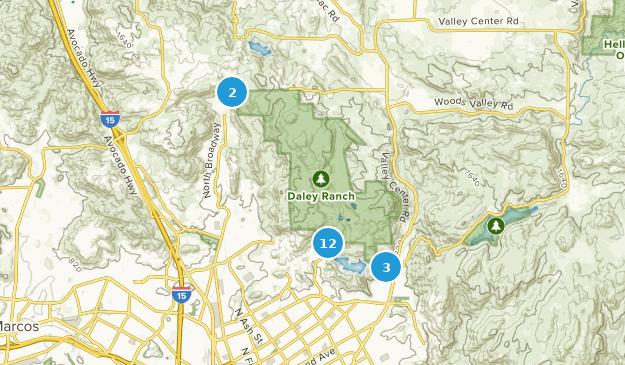 Daley Ranch Birding Map