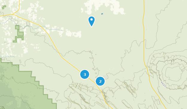 Désert de l'Oregon Badlands Hiking Map