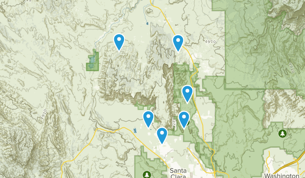 Red Mountain Wilderness Hiking Map