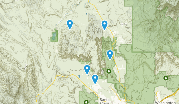 Red Mountain Wilderness Nature Trips Map