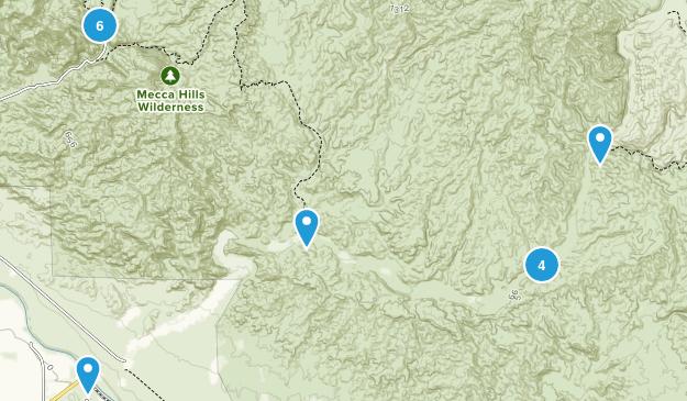 Mecca Hills Wilderness Views Map