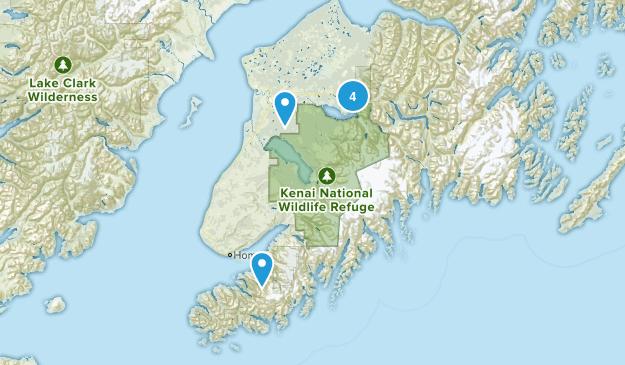 Kenai Wilderness Hiking Map