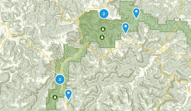 Buffalo National River Wilderness Forest Map