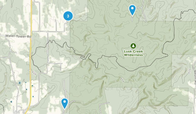Lusk Creek Wilderness Hiking Map
