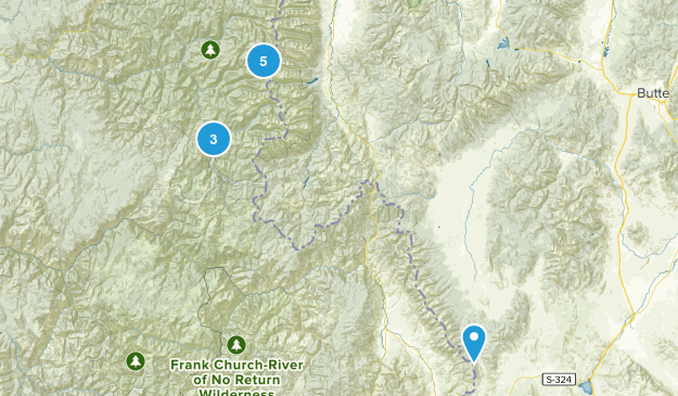 Selway-Bitterroot Wilderness Nature Trips Map