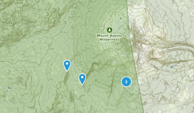 Mount Adams Wilderness Hiking Map