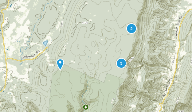 Dolly Sods Wilderness Camping Map