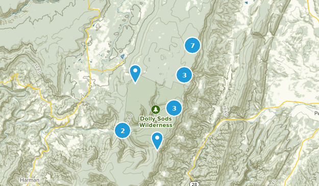 Dolly Sods Wilderness Hiking Map