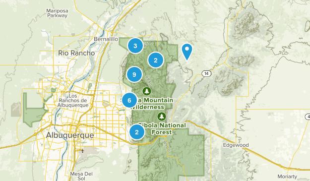 Sandia Mountain Wilderness Birding Map