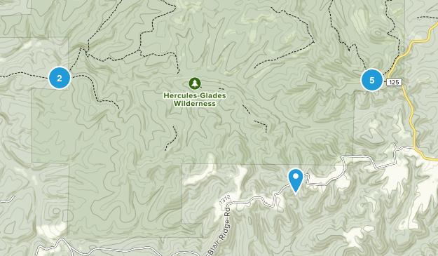 Hercules-Glades Wilderness Birding Map